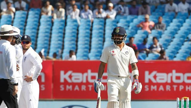 Virat Kohli's hit wicket dismissal in Rajkot Test a rare occasio