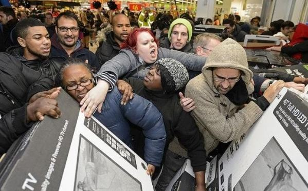 Shoppers stayed at home on Black Friday this year as the sales festival shifted towards online spending.