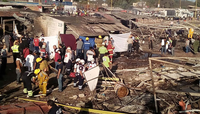Mexico fireworks market blast kills at least 29, scores hurt