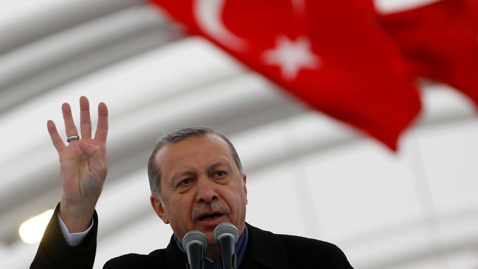 Turkey's Erdogan says West broke promises in Syria, supporting Islamic State
