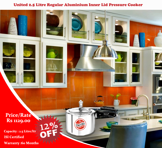 United is offering Pressure Cooker on  discounted price  with  existing price list :Here is the offer.