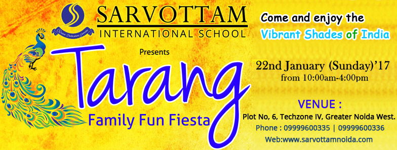 """TARANG"" On 22 Jan 2017 At Sarvottam"