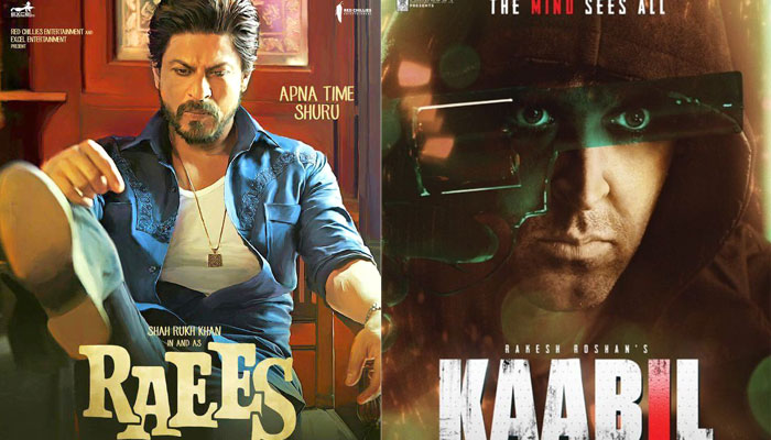 Raees DAY 1 collections: Shah Rukh Khan marches ahead of Hrithik Roshan