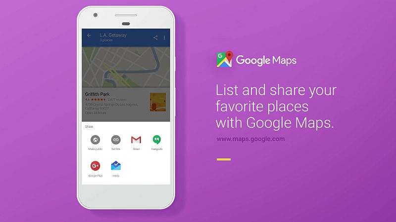 Google Maps Will Now Let You Create, Share, Follow