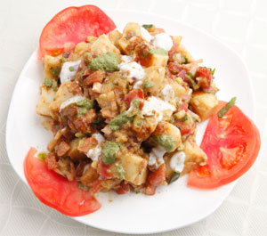 Indian Aloo Chaat Recipe
