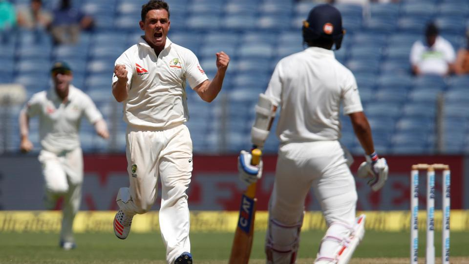 Steve O'Keefe, Peter Handscomb combine, make India stutter vs Australia in Pune