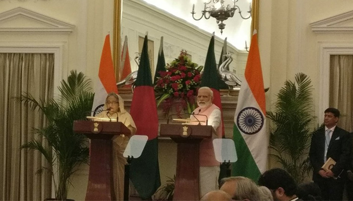 PM Narendra Modi, Sheik Hasina hold reciprocal talks; India commits $500 mn credit to Bangladesh military