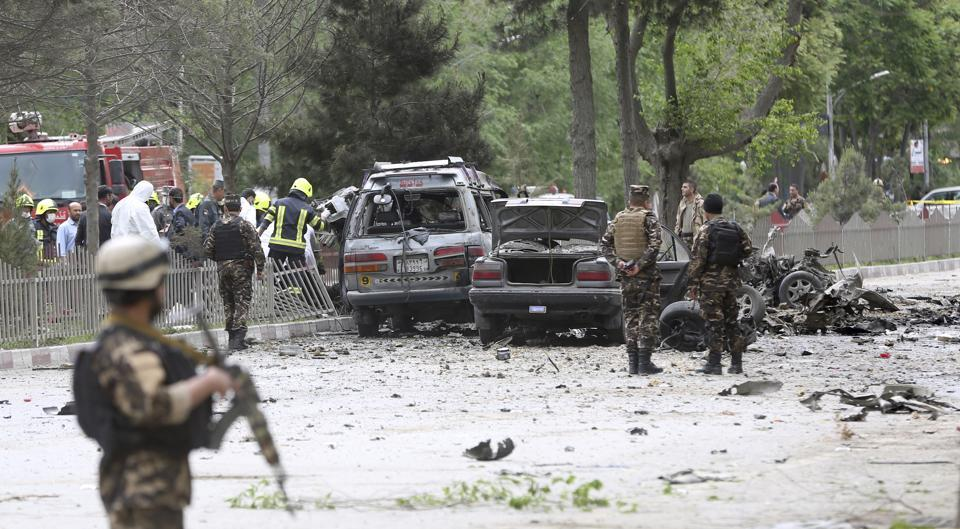 8 civilians dead and 28 injured after suicide bomber targets NATO convoy : Kabul
