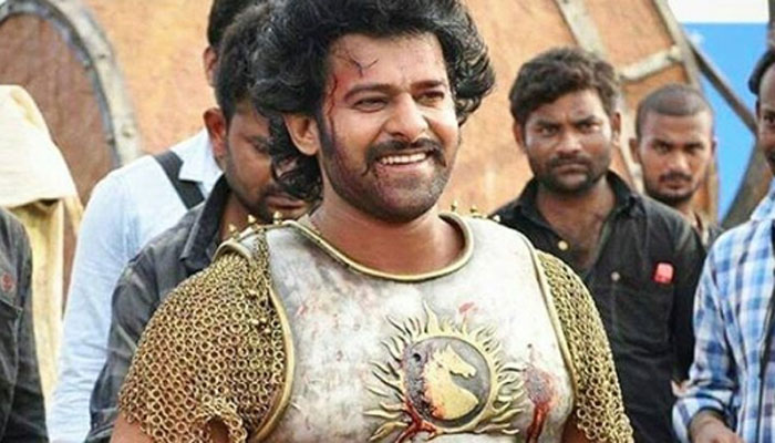 Prabhas posing with