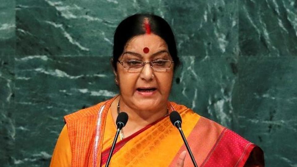 Sushma Swaraj : Pakistan can't take Kashmir issue to ICJ