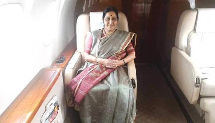 A man tells Sushma Swaraj that he is stuck on Mars; minister