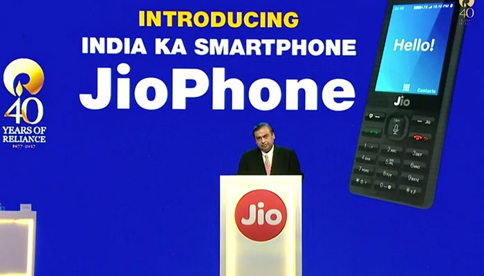 Mukesh Ambani launches Reliance JioPhone for