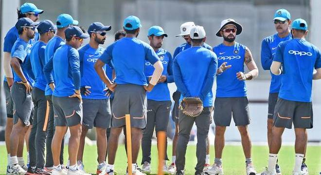 INDIAN TEAM GETTING READY FOR THE GREAT CLASH WITH SRI LANKA
