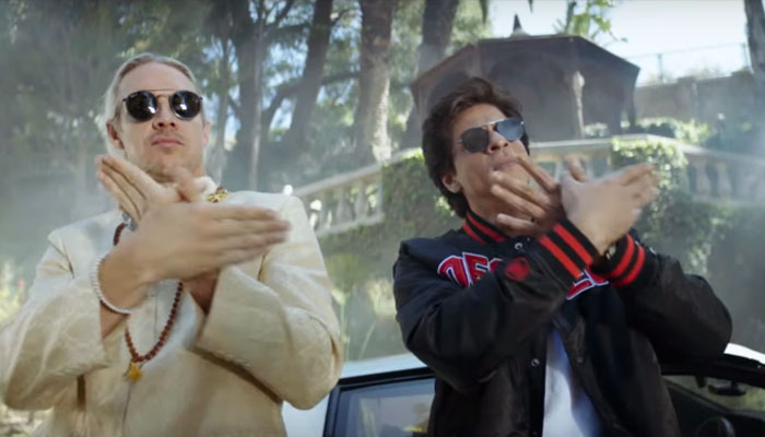 Shah Rukh Khan and DJ Diplo go