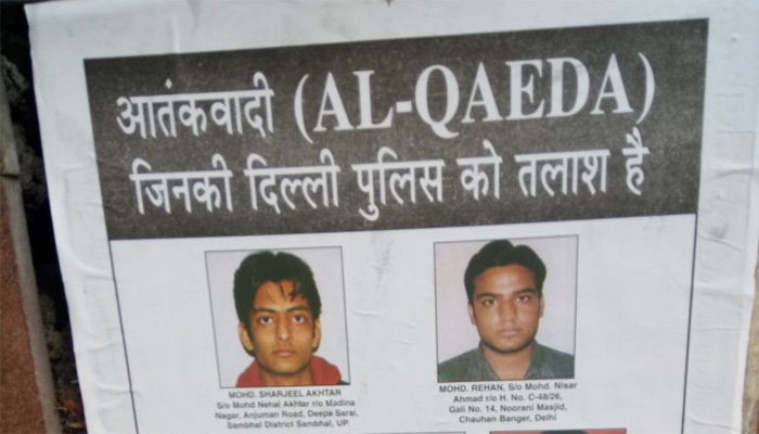 Delhi Police put up posters of wanted terrorists ahead of Independence Day