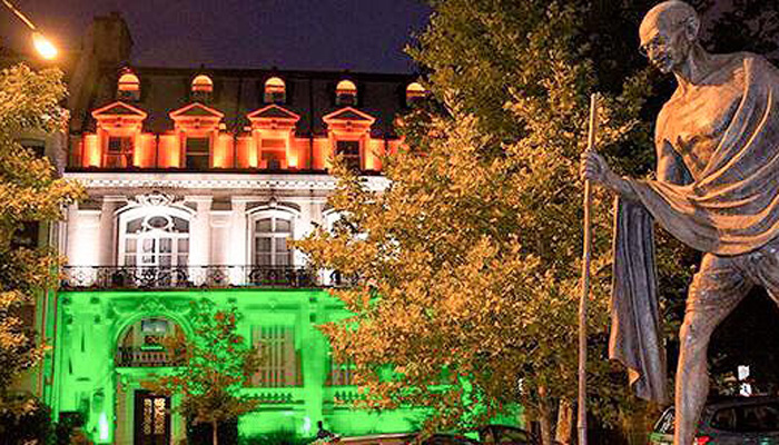 Spectacular! Indian embassies around the world lit up in colors of National Flag - See pics