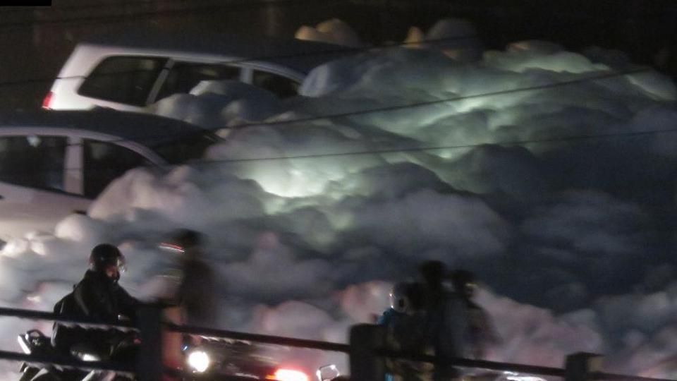 Bengaluru again got hit by the toxic foam