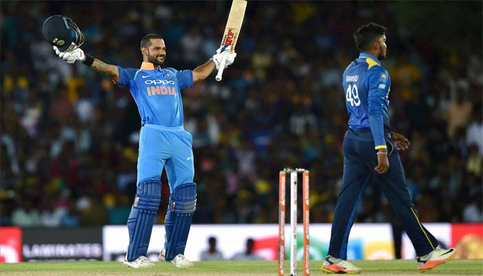 IND VS SL : Shikhar Dhawan becomes first Indian batsman to hit six consecutive 50-plus scores against any team in ODI