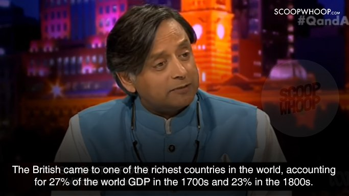 Shashi Tharoor's Sassy Reply When Asked About Britain's Contributions To India Is Satisfying