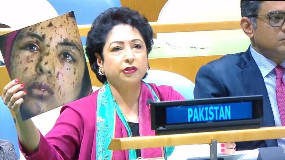 Pak diplomat goofs up at UN, tries to pass off Gaza teen image as Kashmir girl