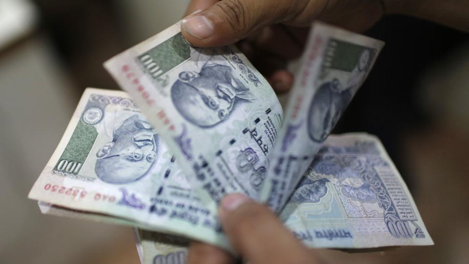 Rupee goes up 6 paise against dollar at 65.32.