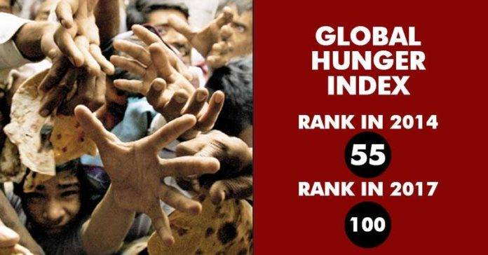 Global Hunger Index: India Ranks 100 Among 119 Countries, Down 45 Positions Since 2014