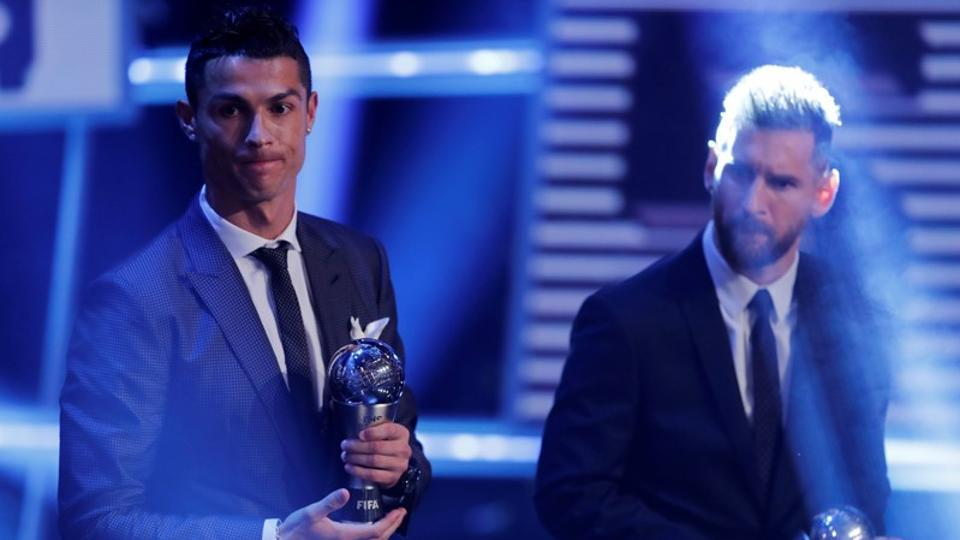 Cristiano Ronaldo has caught up with Lionel Messi to become a five-time winner of FIFA's best player award.  The Real Madrid forward was crowned player of the year on Monday at the FIFA Best ceremony