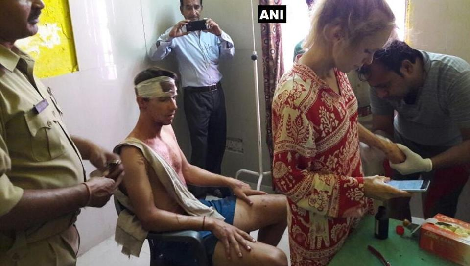 Attack on Swiss couple leaves them with broken bones, one held; Sushma seeks report