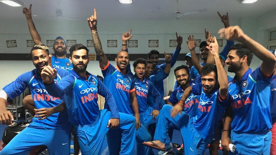 See how Virat Kohli and Co. celebrated their 2-1 series win over New Zealand