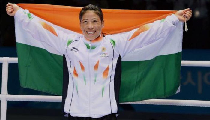 MC Mary Kom becomes Asian boxing champion for the fifth time.
