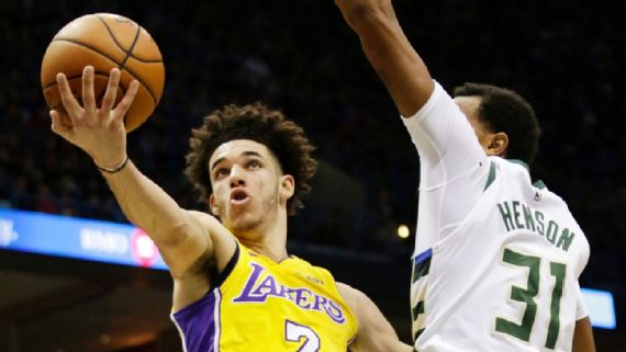 Lakers rookie Lonzo Ball becomes youngest ever to get triple-double