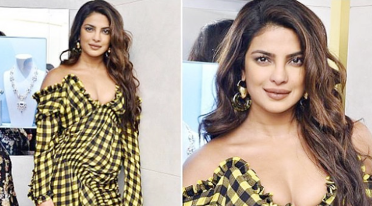 Priyanka Chopra marches to a different tune in this cold-shoulder gingham dress