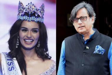 Shashi Tharoor Tweets up Storm With Pun on Miss World Manushi Chhillar.