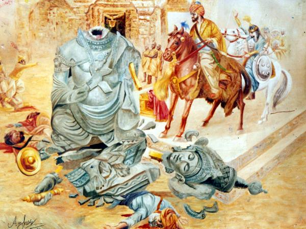 8 JAN 1025 SULTAN MAHMOOD DESTROYS SOOMNATH TEMPLE.