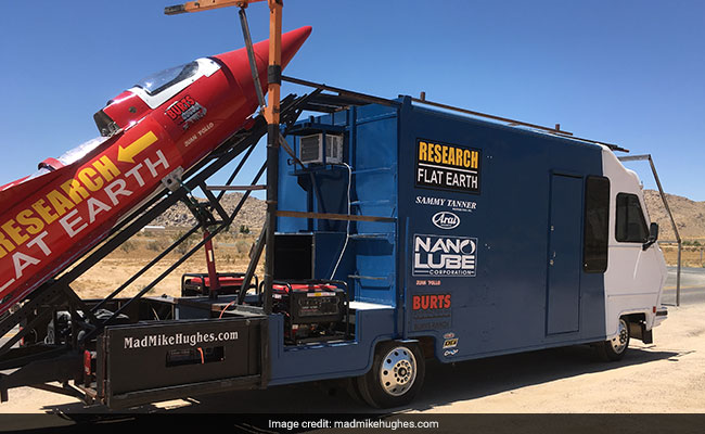 A Man Is About To Launch Himself In His Homemade Rocket To Prove The Earth Is Flat
