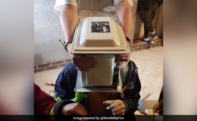 Prank Goes Wrong! Man Accidentally Cements His Head Inside A Microwave