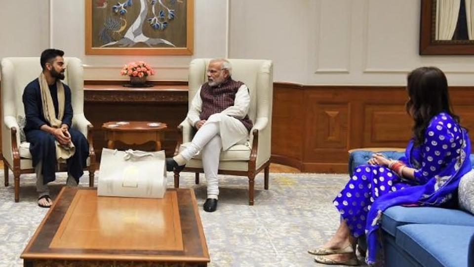 Newly wed Virat Kohli, Anushka Sharma meet PM Narendra Modi. See pictures
