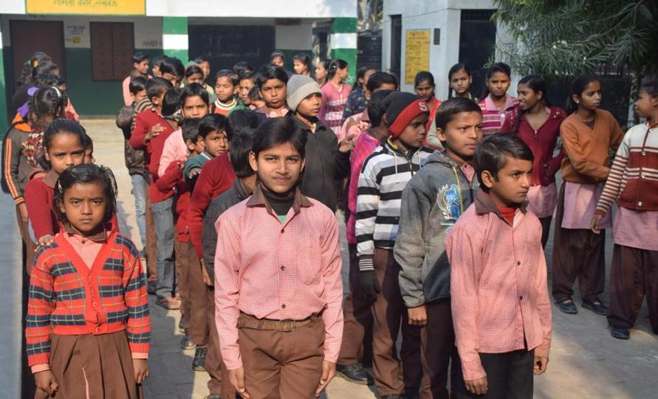 Uttar Pradesh: 90% government school students yet to receive free sweaters