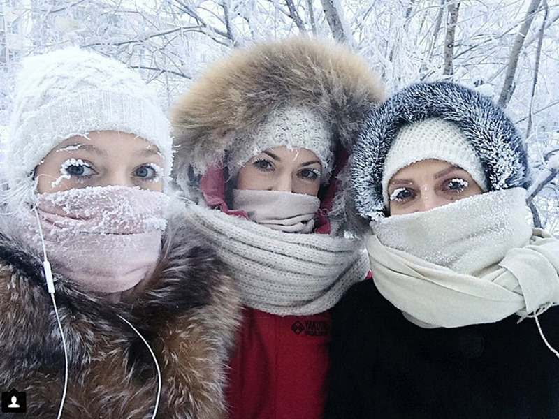 Even the eyelashes freeze: Russia sees minus 67 degrees Celsius