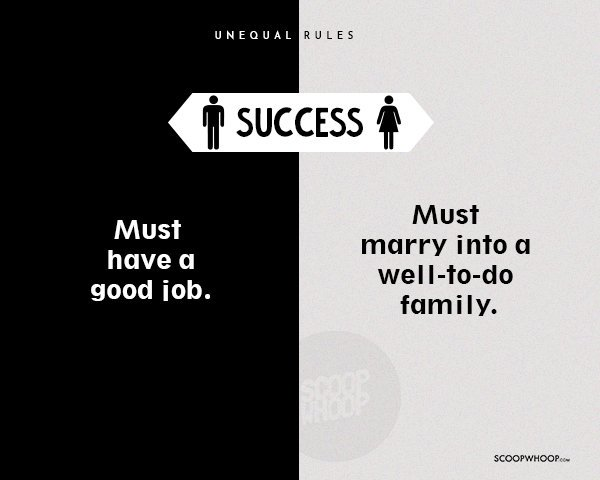 15 Hard-Hitting Posters Reveal How The Rules Of Life In India Are Different For Men & Women