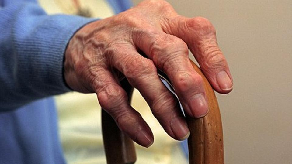 Slower walking speed in the elderly may be because of loss of muscle strength