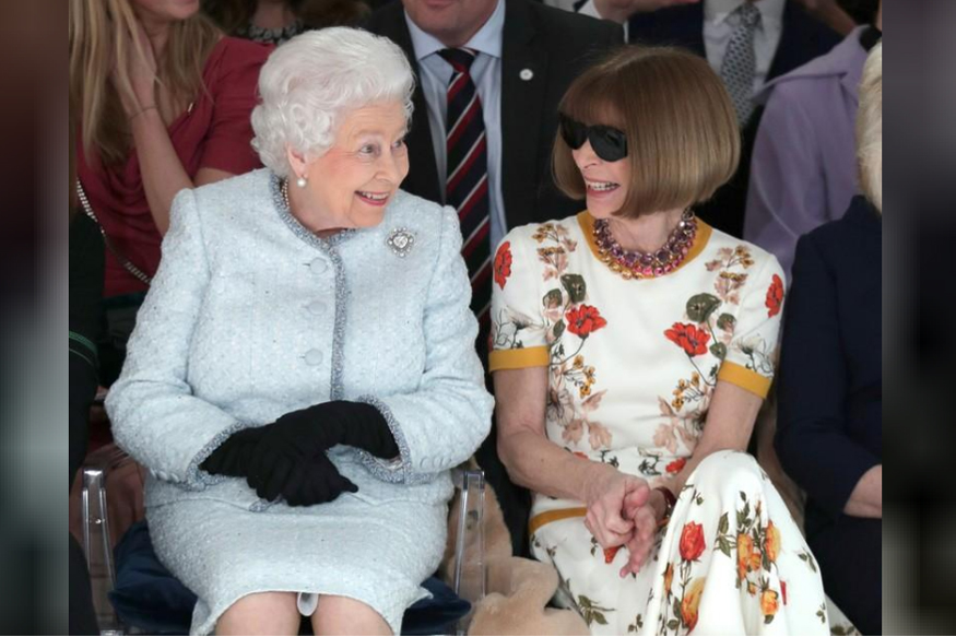 Queen Elizabeth Makes Surprise Appearance At London Fashion Week