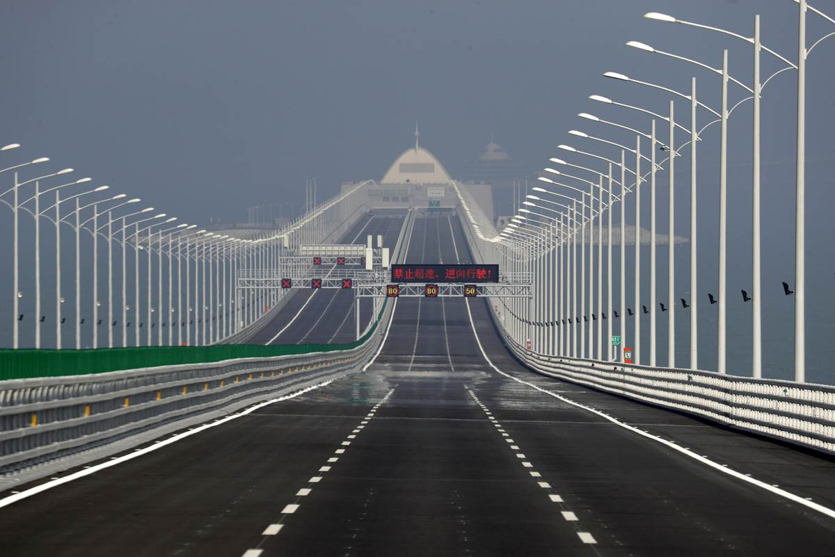 At 55-km, this is the world's longest sea bridge