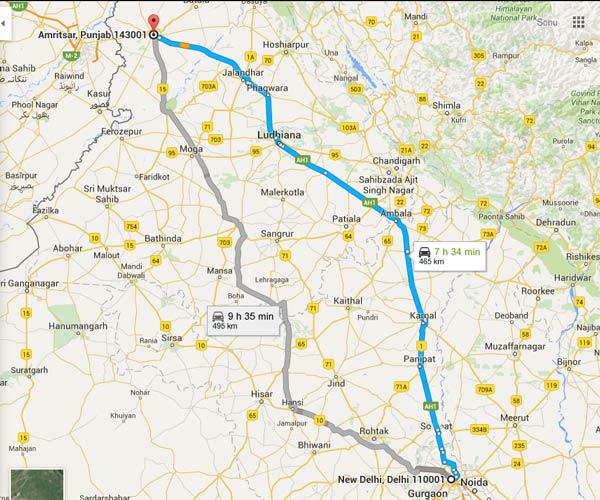 A Foodie Self Drive – From Delhi To Amritsar!