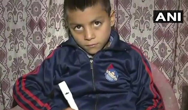 9-Year-Old Boy In Kashmir