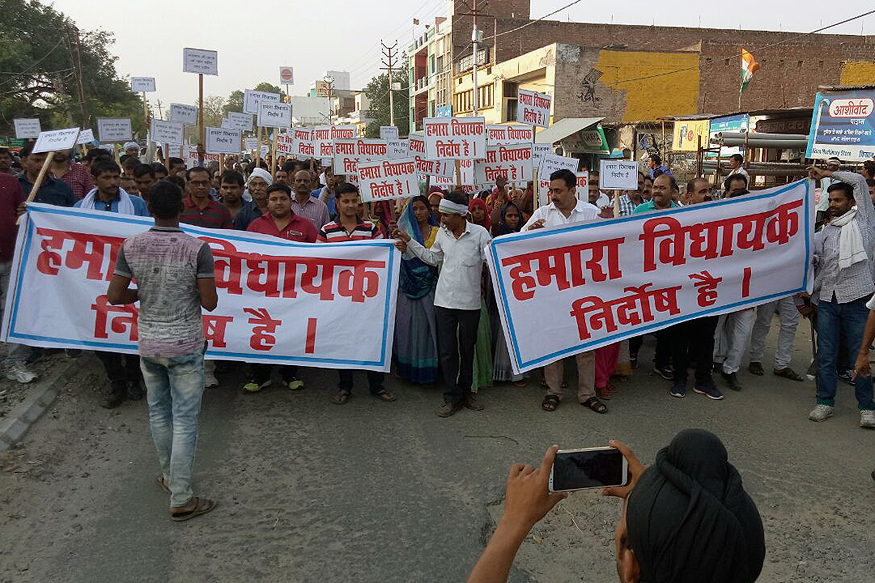 Unnao Does a Kathua, Residents Take Out Rally Supporting Rape Accused BJP MLA Kuldeep Singh Sengar