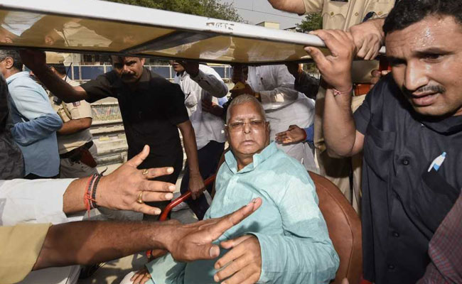 "Lalu Yadav Protests Release By AIIMS, Screams Conspiracy By ""PM Modi"""