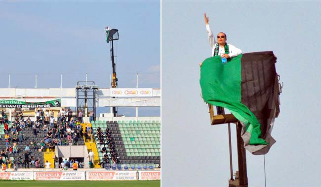 Banned From Football Stadium, Fan Hires Crane To Watch His Favourite Team