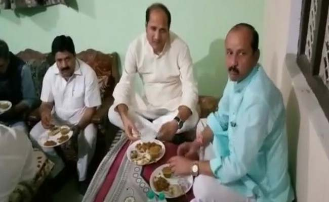 UP Minister Goes To Dalit Home