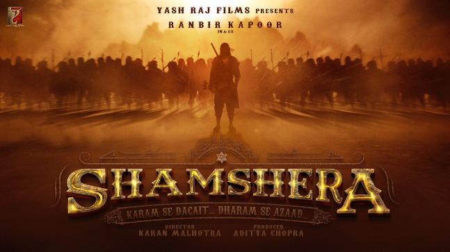 Shamshera first look poster: Ranbir Kapoor turns dacoit for YRF
